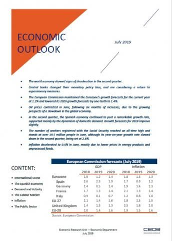 Economic outlook - July 2019